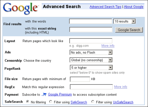 Advanced Search on Google: Make your searches more specific