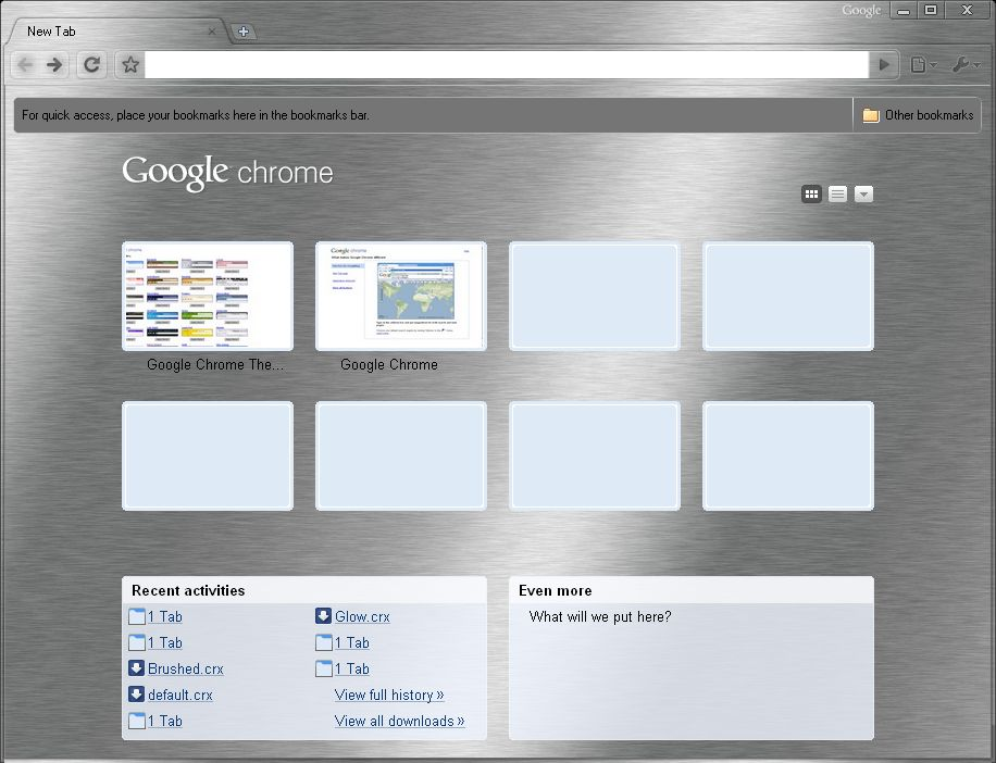 Google Chrome Themes Gallery Live