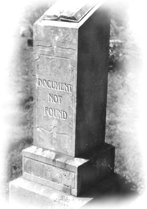 Epitaph: 'Document Not Found'