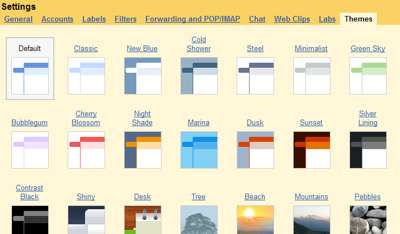 Gmail Rolls Out Themes