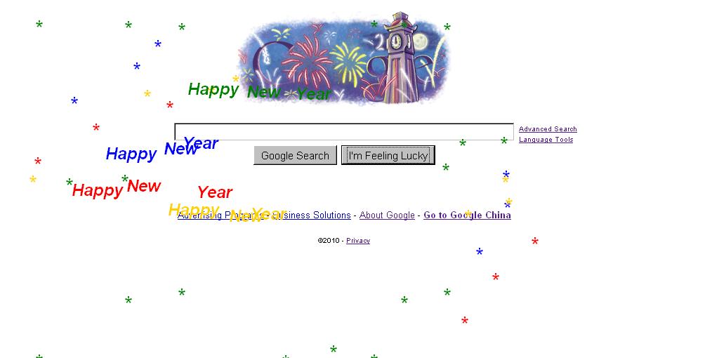 Google's New Year's Easter Egg