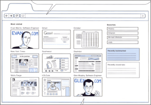 screenshot thumbnails from Google Chrome Comic