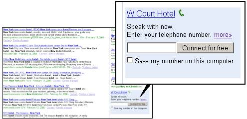 [W Court Hotel - Speak with now. Enter your telephone number. Connect for free]