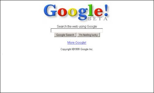 How Google's homepage looked in 1999 - 9GAG