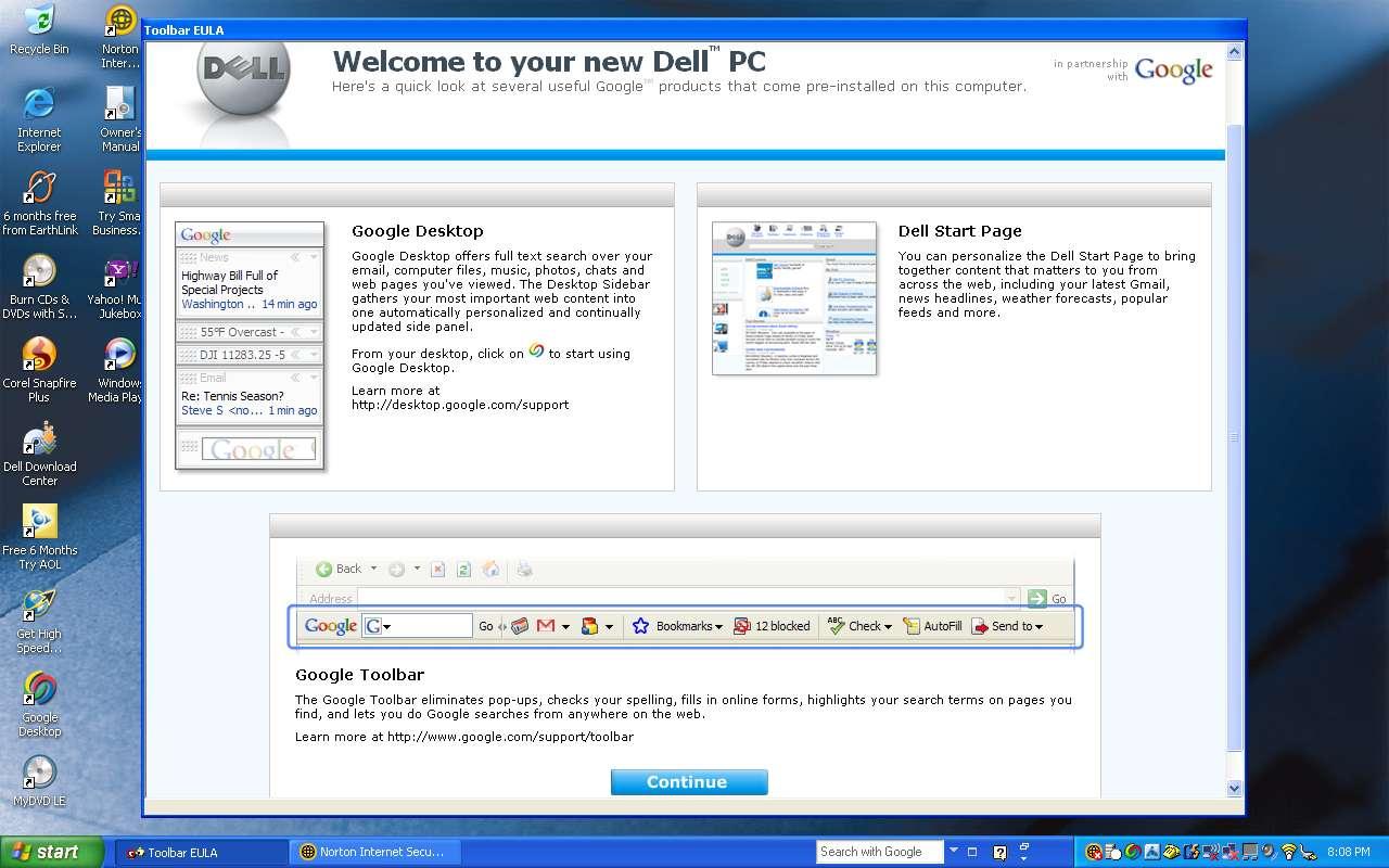 Google Dell PC (Screenshot)