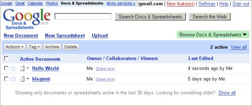 Google Docs Spreadsheets Released - Google docs spreadsheet
