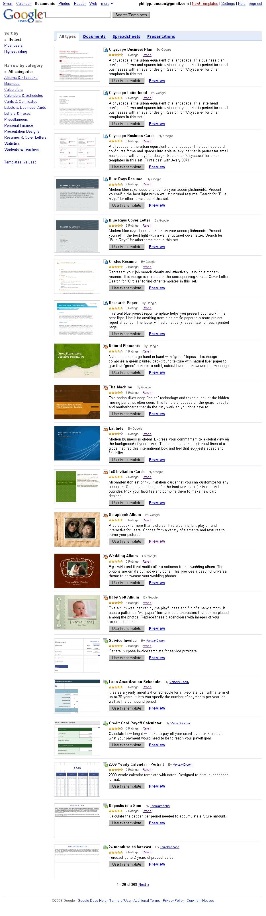 Google Docs Templates Directory