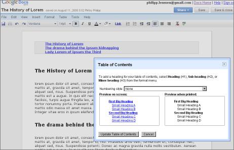 Thesaurus Google Docs Utilize Table of...