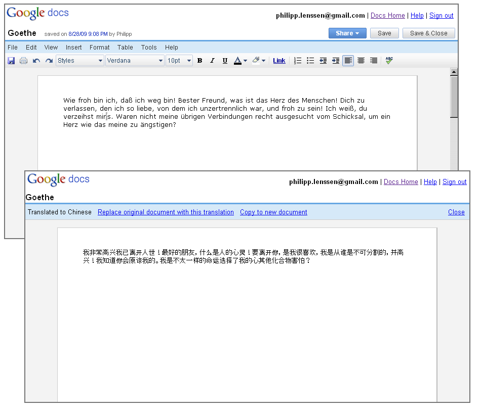 google docs now with translation feature With translate documents google docs