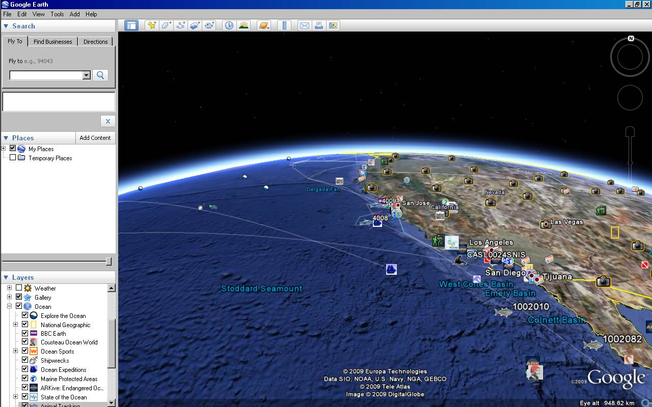 Google Earth Maps Oceans - Google maps earth view