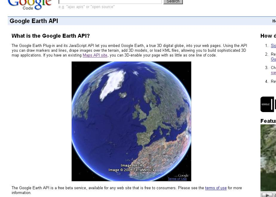 Google Earth Inside the Browser