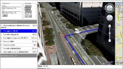 Web Based Google Earth Driving Simulator