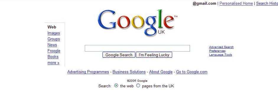 Google Startseite