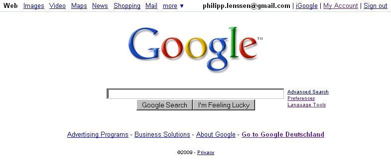 a changed google results layout perhaps experimental