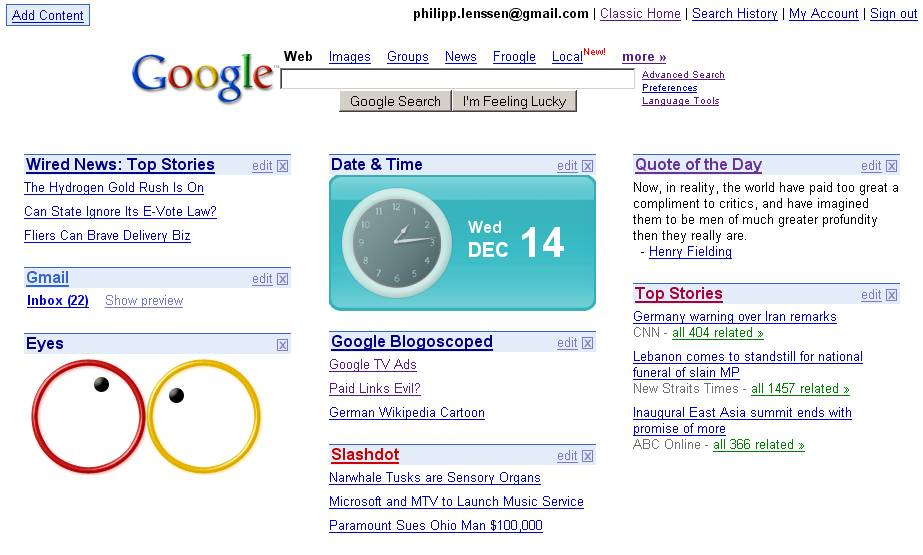 google homepage design in html homemade ftempo. Black Bedroom Furniture Sets. Home Design Ideas
