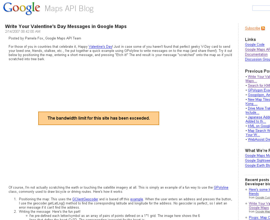 Google Exceeds Own Bandwidth Limit