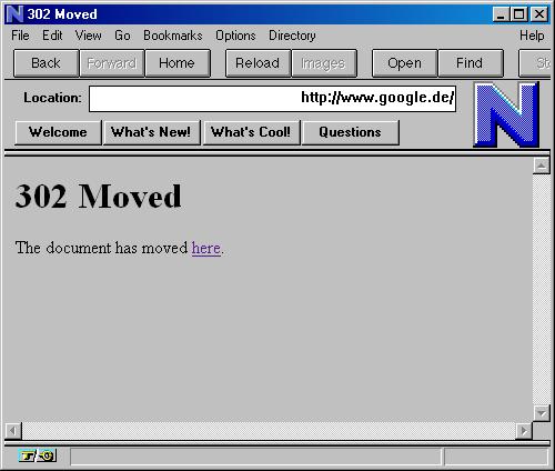 google 1996. Netscape circa 1996 .