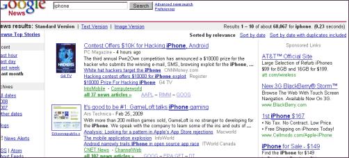 Publicité Google News