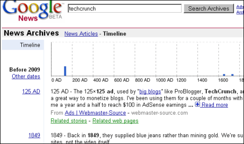 Google News Archive Hiccup