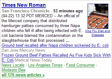 Headline of news article: 'Times New Roman'