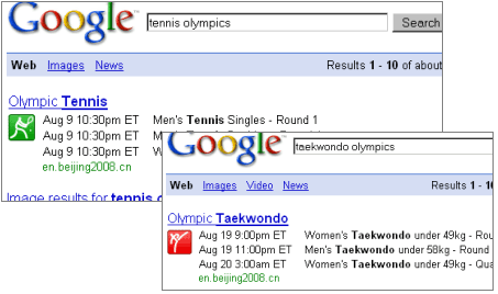 Music OneBox. Google-olympics-2008
