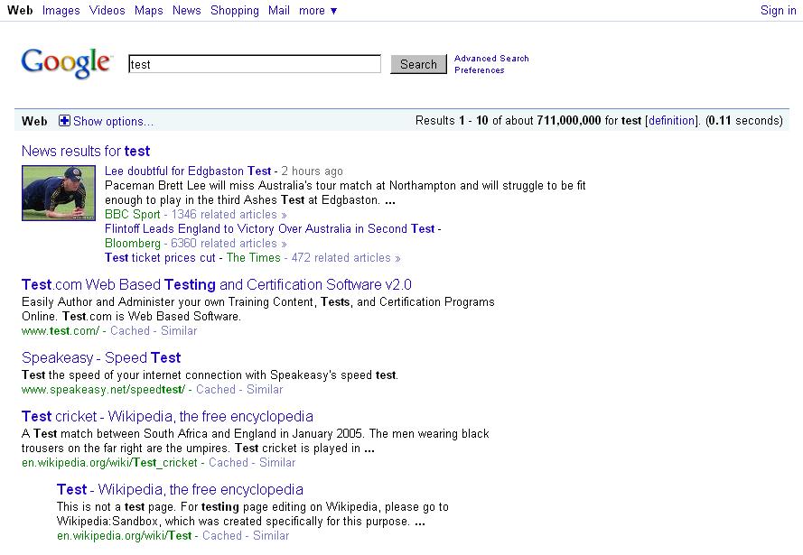 Google Prototype Hides Underlines