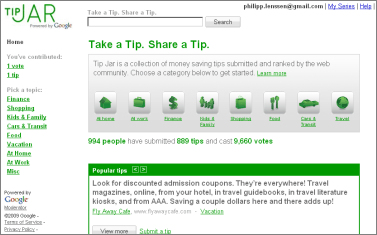 Google Tip Jar