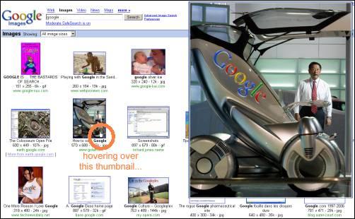 预览Google图片搜索结果