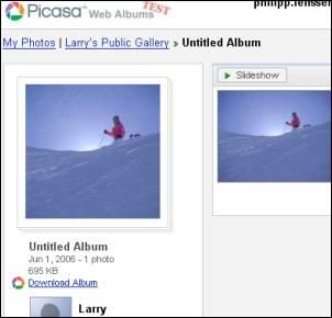 No Privacy for Picasa Web Albums