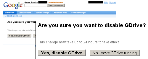 Disable Gdrive