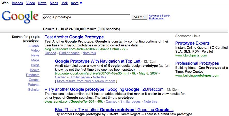 google layouts timeline