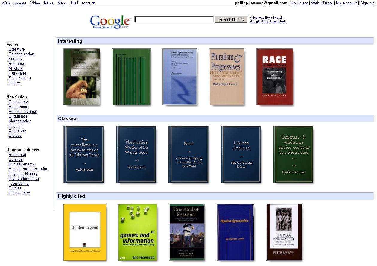 Google Books Redesign