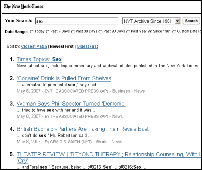 But guess what: the New York Times ? previously in search engine news for ...