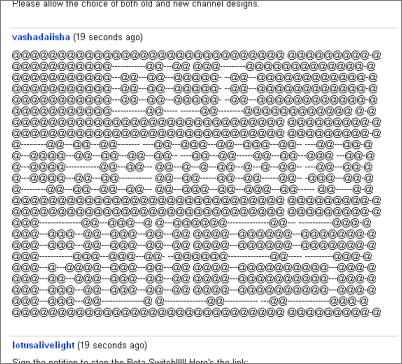 ['Old Channel Rules' written with @'s]