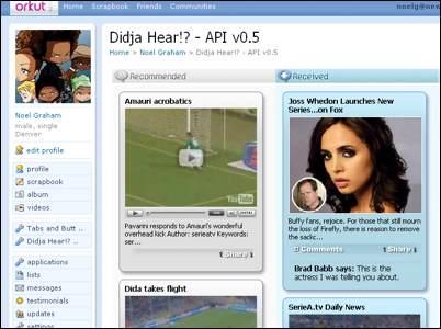 Imagem - News Gator Orkut OpenSocial