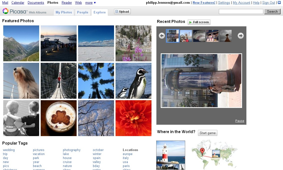 Picasa Web Albums Adds Face Recognition, Map Game