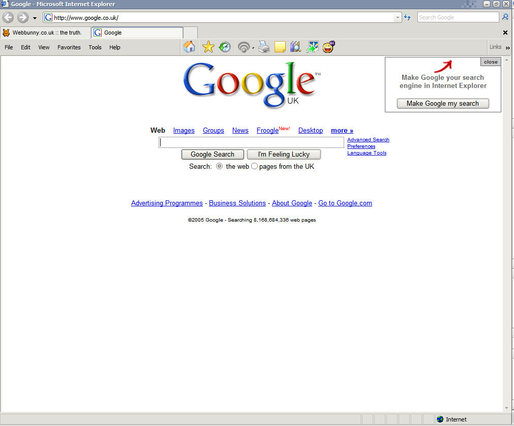 view full size view google homepage with this background