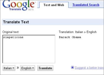 google translator and barack obama