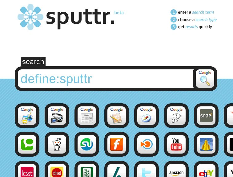 Never A Dull Moment...: Sputtr... A Cool Looking Site To
