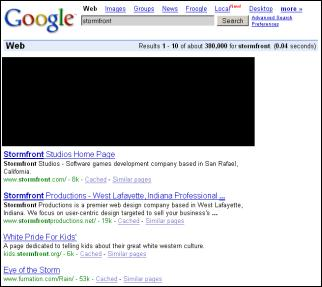 in forming google yahoo msn web search