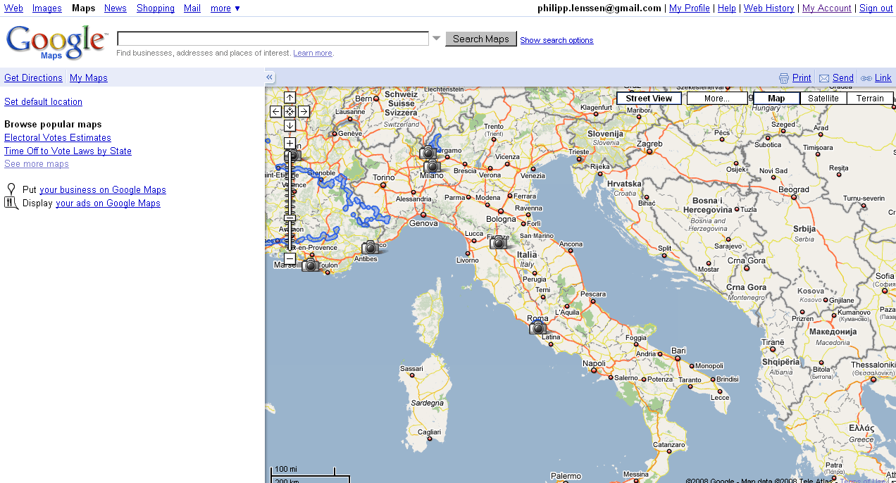 Google Street View Italy Live, Too