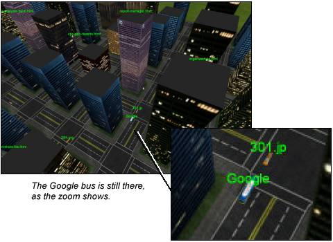 [The Google bus is still there!]