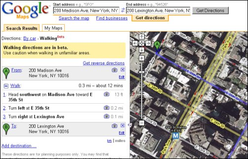 Walking Directions For Google Maps Is Live  WebProNews
