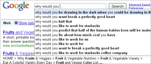 "Google auto-completion suggests: ""Why would you like to work for starbucks""..."
