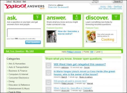answers.yahoo.com questions