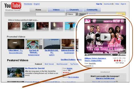 Advertisements on youtube