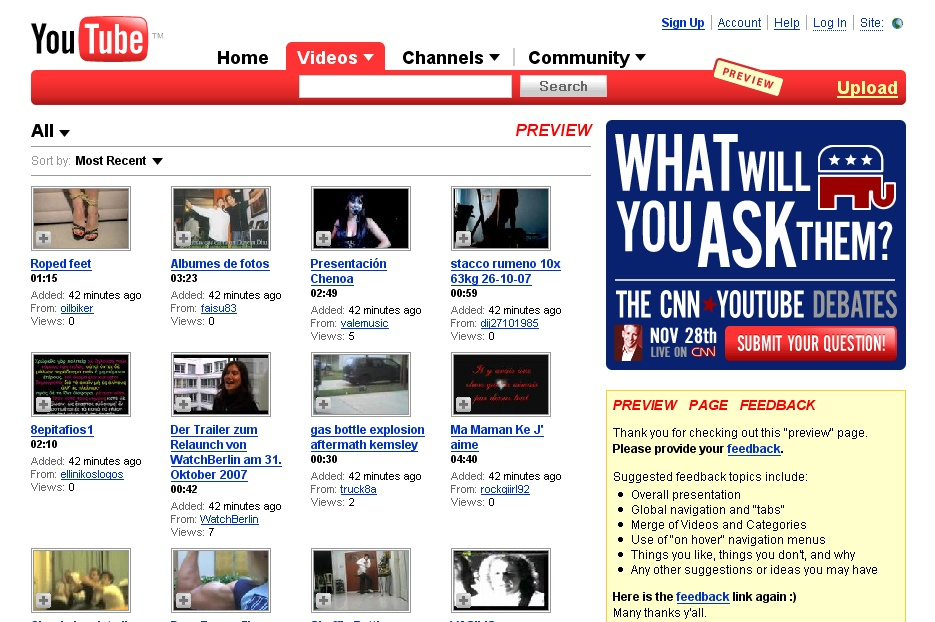 Preview YouTube Design